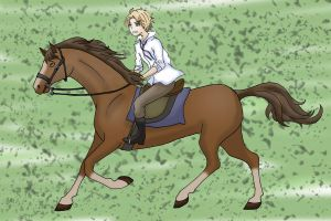 Alfred on a Horse by Chrinee