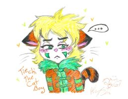 Tiechi the Cat Boy blush by Kittychan2005