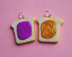 Peanut Butter and Jelly Charms by ClayRunway