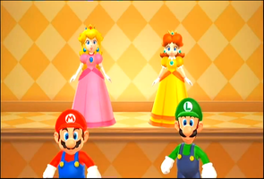 Mario,Luigi,Peach And Daisy by PuccadomiNyo