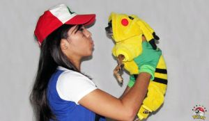 Ash Ketchum and Pikachu - Pokemon Cosplay by Marysaura