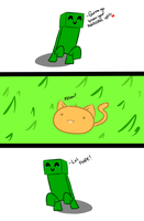 Lol Nope Creeper Comic by Scoric