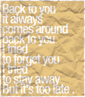 Back to you by divzz