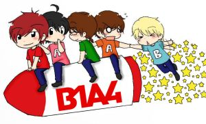 Jump Like A Rocket ! B1A4 by ashred252