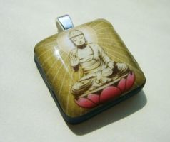 Buddha Pendant by luminarydreams