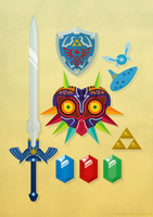 Legend of Zelda by thelilartist