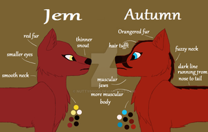 Jem And Autumn Ref. Sheet by Nutty60005