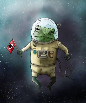 Space Frog by himynameisfo