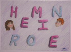 Hermione Ron Name thing by Selfsecret