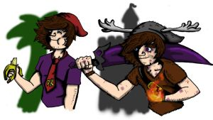 Jake Kong and Pyromancer Jake by jakester2008