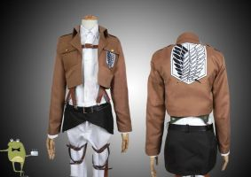 Survey Corps Uniform Attack on Titan Costume by cosplayfield