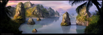matte painting - Islands by CavalierediSpade