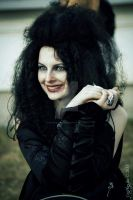 Bellatrix...smiling?! by snowyblackrose