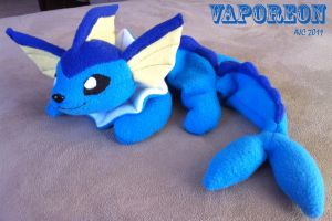 Vaporeon plush by LeluDallas
