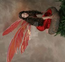 Giant Red Fairy Wings by FaeryAzarelle