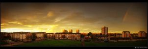 tilly sunset rainbow pano by kihsleek