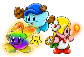 AT with kirbyfan88: Kirbys with Power-Ups!! by SuperLakitu