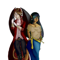 Monie and Dameon by MissMonie
