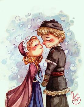 Anna and Kristoff by Chibi-Joey