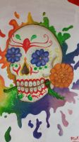 Dia De Los Muertos mural (close up) by MakaruWolf55218