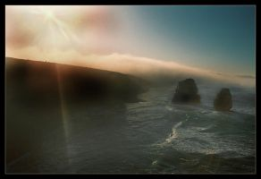 Sunrise through Mist by wildplaces