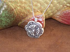 Antique Button Pendant by tobilou