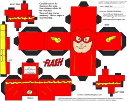 JLA 2: Barry Allen Flash Cubee by TheFlyingDachshund
