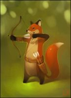Fox-archer by GaudiBuendia