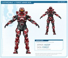 Halo 4 | Hazop armor skin forest By 343 Industries by Goyo-Noble-141