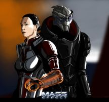 Shepard and Garrus by Nissun
