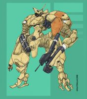 MECHA- Ganadhje w. rifle by artsolid-science