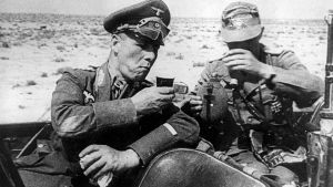 3rd Reich Ldr Rommel Pauses For A Drink by PanzerBob