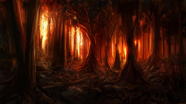 Burning Woods by Alexlinde