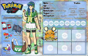 Pokemon OC SHEET: Elena by Ya-e
