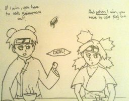 Contest Entry: The Bet with Temari and Tenten by Luafua