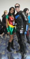 Nightwing and Robin Cosplay by Cauldron03