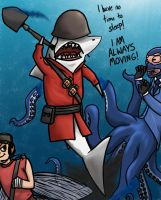 That Shark is a Soldier by kittydemonchild