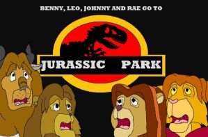 Benny, Leo, Johnny and Rae Go To Jurassic Park by kylgrv
