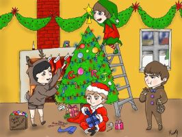 Beatles Christmas - color by greengal14