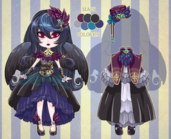 :Custom: Raven girl by BlackMayo