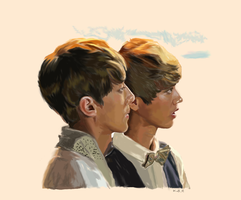 Hunhan Double Portrait :'''D by thereistoomuchbutter