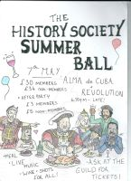 History Society Ball Poster by MCASEY92
