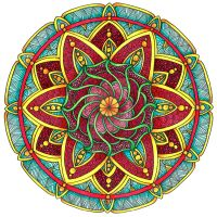 Coloured Version of Mandala 1 July 2014 by Artwyrd