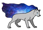 Galaxy Wolf by MathouBlossomChannel