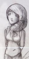Traditional Sketch - Hoping Girl 2014 by ineedpractice