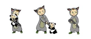 SPN The Raccoon Man and the Tail-Coveting Panda by angeltrap