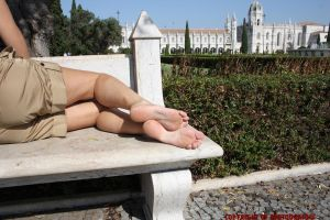 Fedra In A Stone Bench by Footografo