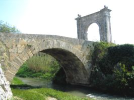Bridge of the River Touloubre by Syltorian