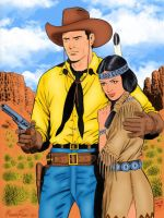 Tex and Lilith by Rossano Rossi by winchester01