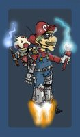 High-Tech Mario Colored by panaceanplague99